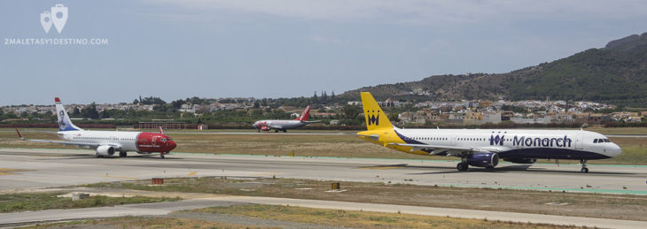Aviones en el Aeropuerto de Málaga