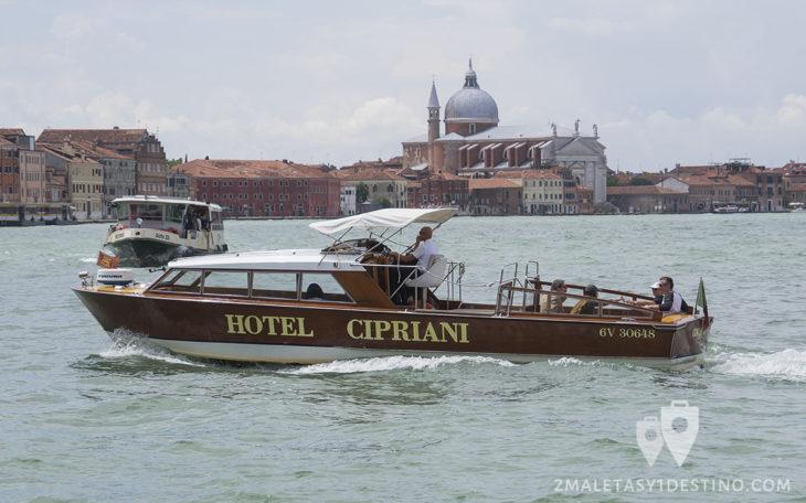 Barco privado Hotel Cipriani Venecia