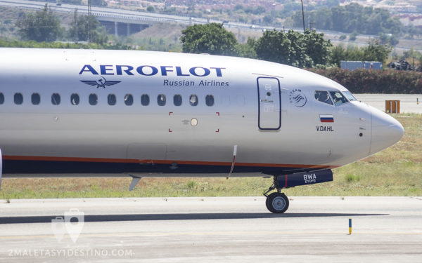 Boeing 737-8LJ (VQ-BWA) Aeroflot Russian Airlines cabina