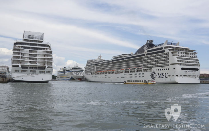 Cruceros en el Puerto Marítimo de Venecia