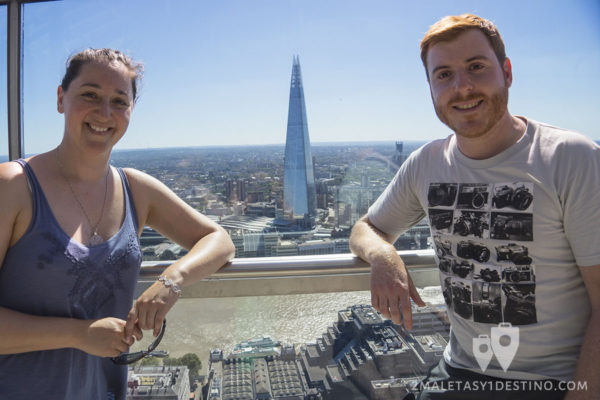 Vanina y Eguino con The Shard