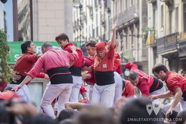 Fiestas de la Mercé - Casteller conseguido