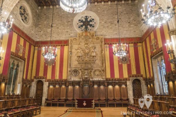Fiestas de la Mercé - Salón en el Ayuntamiento
