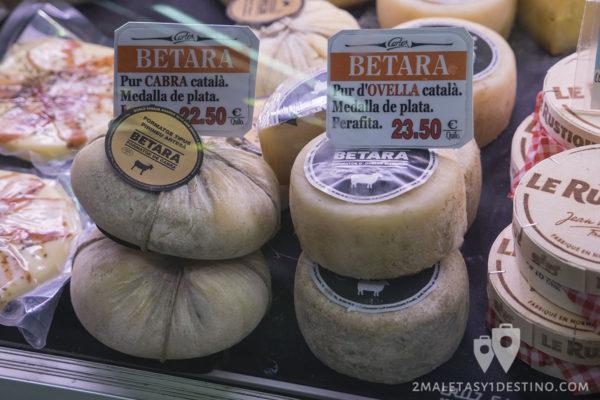 Mercados y Gastronomía Barcelona - Quesos