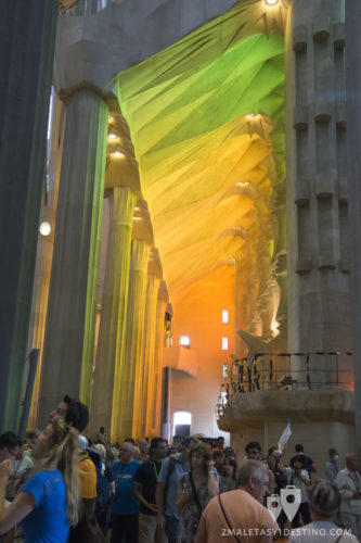 Sagrada Familia - Juego de luces