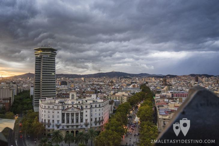 La Rambla desde Monumento Colon Barcelona