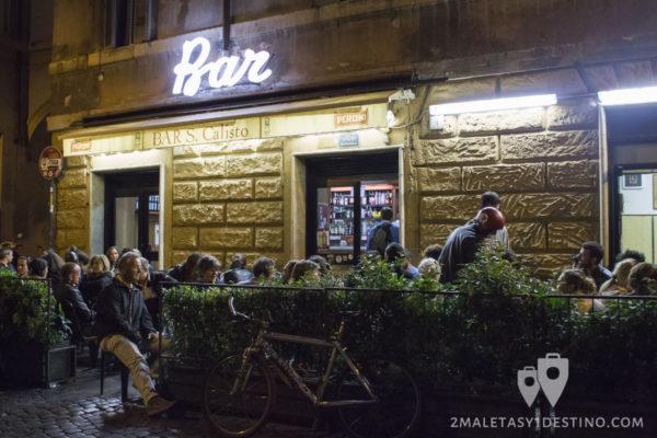 Bar San Calisto en el Trastevere