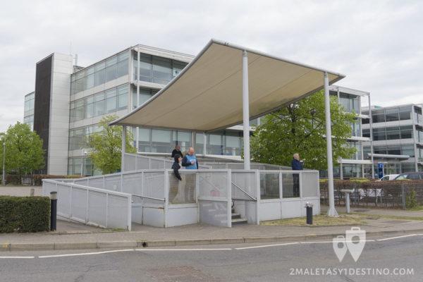 Caseta spotters en el Aeropuerto de Heahtrow