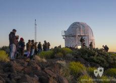 Bloggers en el observatorio del Teide