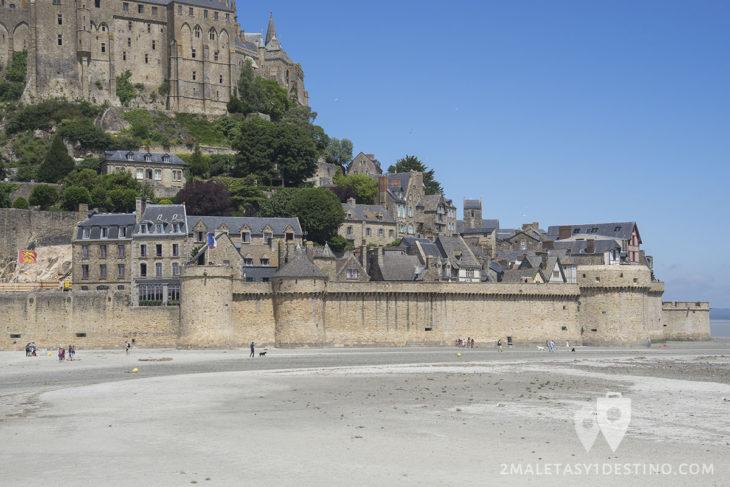 Casas en el Mont Saint Michel - Francia