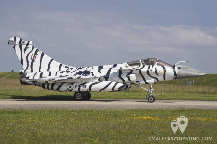 Dassault Rafale M con la librea del tigre blanco en el Tiger Meet 2017