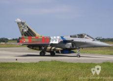 Dassault Rafale con la librea de la bandera de Lorraine