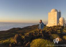 Eguino viendo el atardecer en el observatorio del Teide