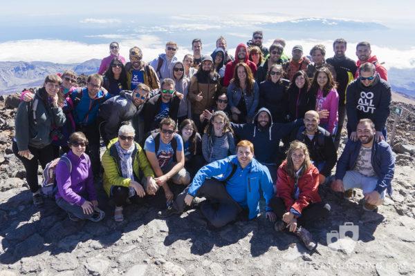 Foto familia #TBMTenerife en el Teide