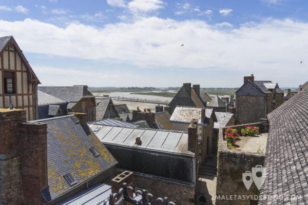 Tejados en el Mont Saint Michel