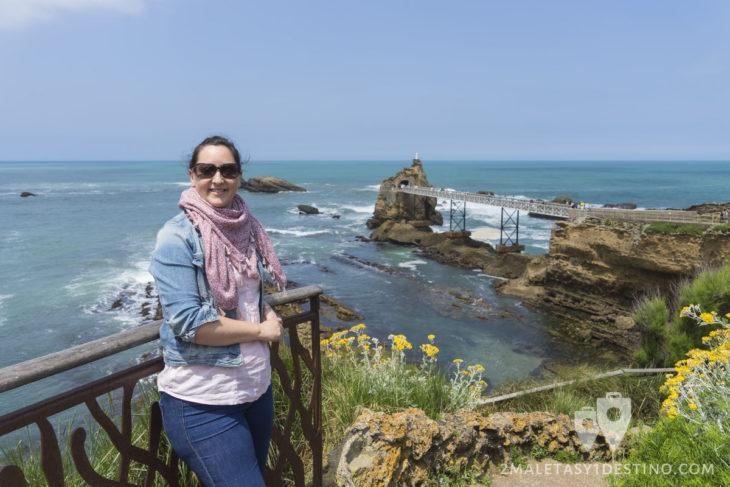 Vanina en el mirador de Biarritz - Francia