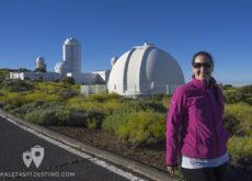 Vanina en el observatorio del Teide