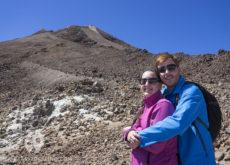 Vanina y Eguino en el Teide
