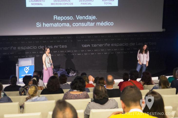 Taller de viajes y salud con Irene y Candela en el #TBMTenerife
