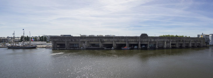 Base submarina de la II Guerra Mundial en Saint Nazaire en Francia