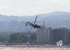Helicóptero Superpuma en Gijón
