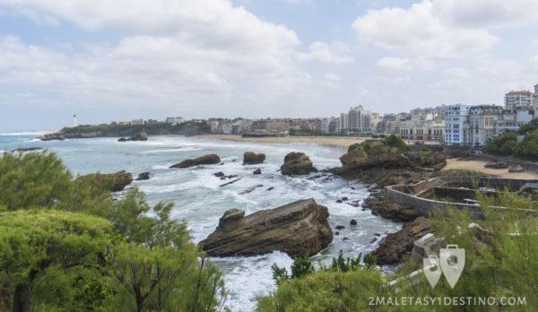 Vistas desde el Mirador de Biarritz en Francia