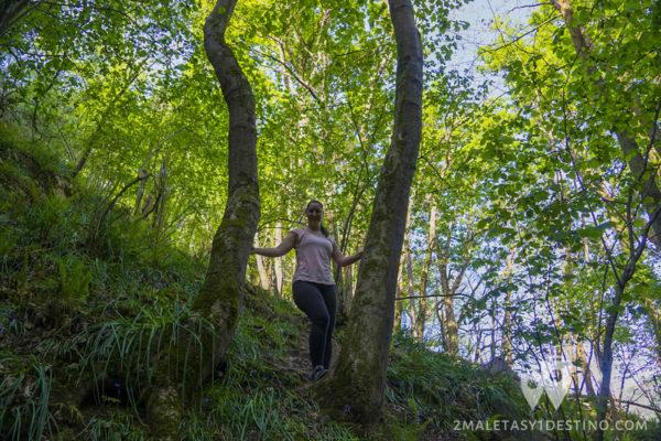 Vanina en Las Cascadas de Guanga