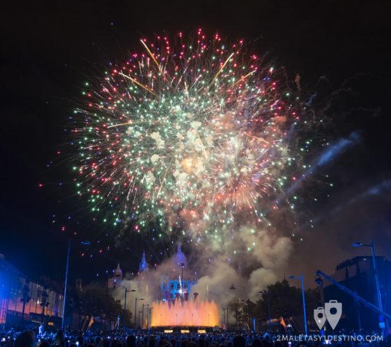 Espectáculo Piromusical Fiestas de la Mercé - Fuegos artificiales