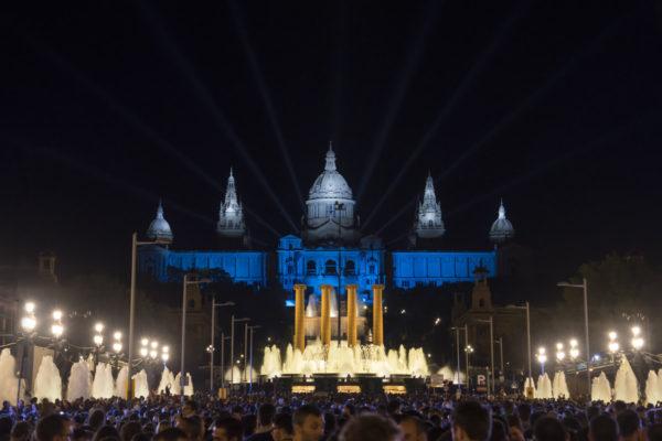 Espectáculo Piromusical Fiestas de la Mercé - Montjuic de noche