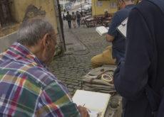 Urban sketchers, ilustradores en la Cuesta Cholo