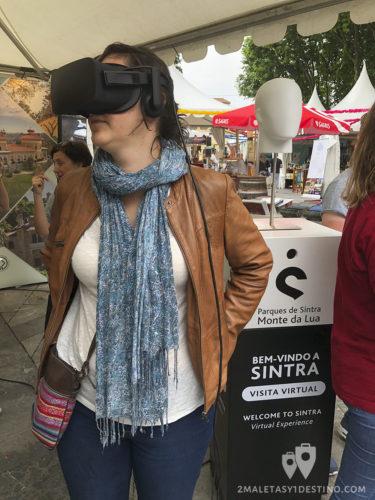Visita virtual con gafas en el stand de Sintra