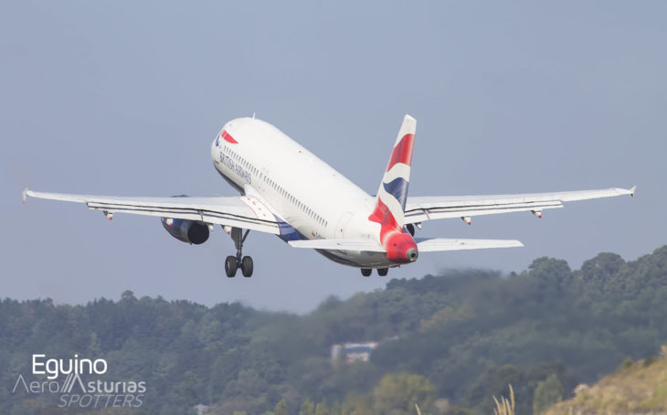 Airbus A320-232 (G-EUYE) British Airways despegando