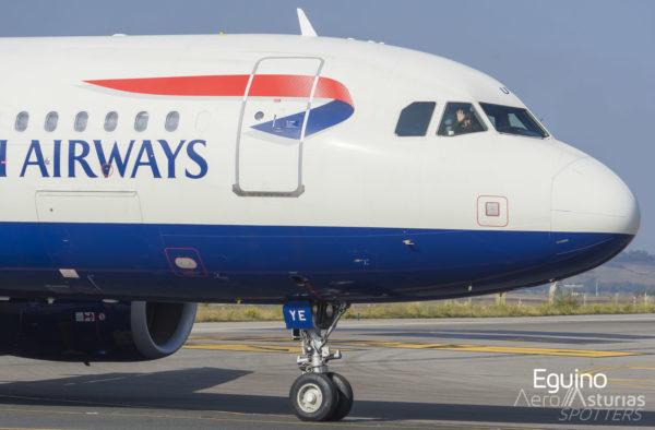 Saludo del piloto de British Airways