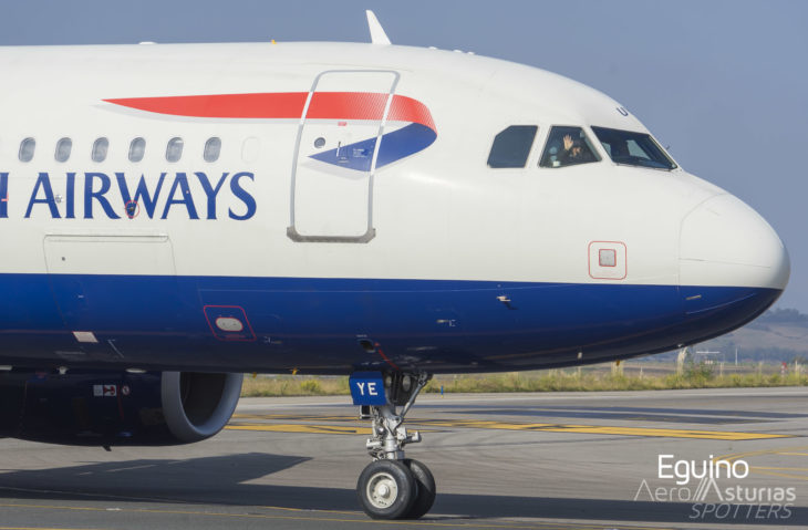 Saludo del piloto de British Airways