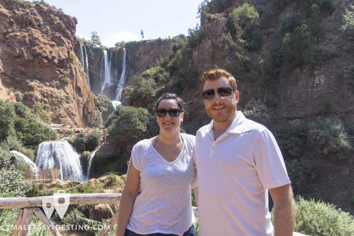 Alfonso y Vanina en las Cascadas de Ouzoud