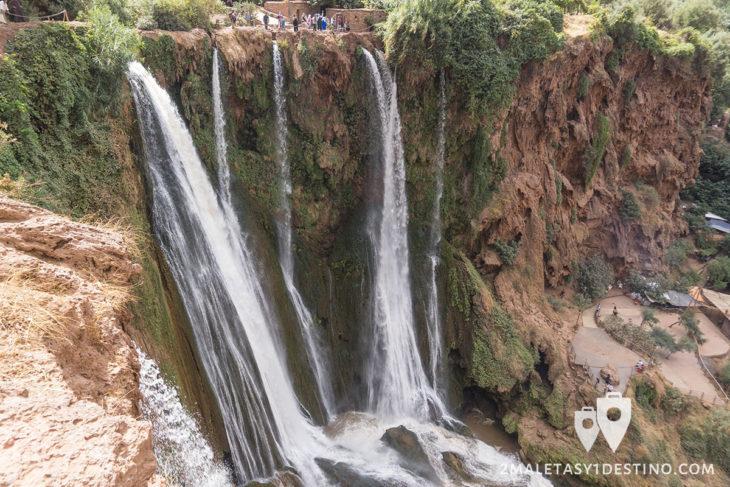 Cascadas de Ouzoud desde arriba