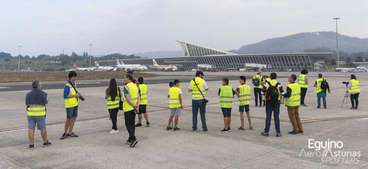 Spotters en el IV Open Day en el Aeropuerto Bilbao