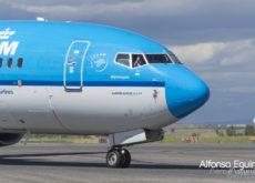KLM saludo piloto