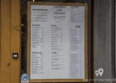 Menu carta de la Taverna San Trovaso en Venecia