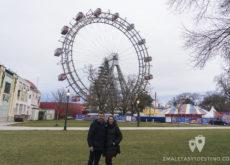 Alfonso y Vanina en la Noria Riesenrad en Viena