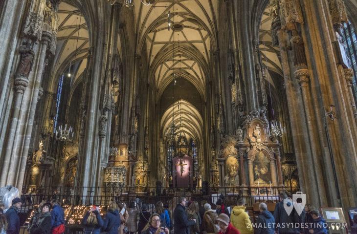 Interior de la Catedral de San Esteban en Viena