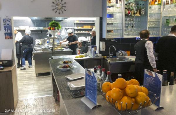 Cocina del Restaurante Art Corner