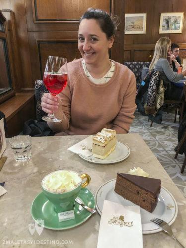 Vanina de merienda en Viena